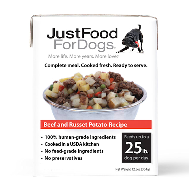 JustFoodForDogs Pantry Fresh Beef and Russet Potato Dog Food, 12.5 oz., Case of 12 - Carousel image #1