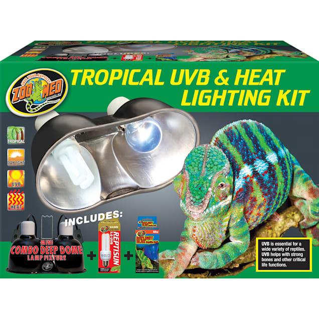 Zoo Med Tropical UVB & Heat Lighting Dual Kit, 100 Watt - Carousel image #1