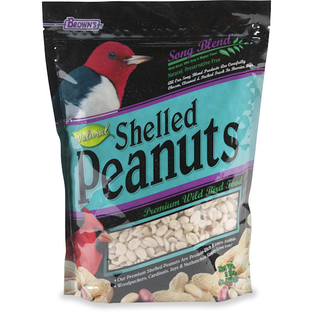 Browns Natural Shelled Peanuts for Birds, 3 LBS - Carousel image #1