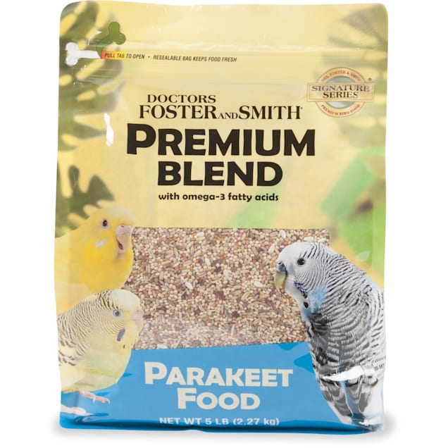 Drs. Foster and Smith Premium Blend Parakeet Food with Omega-3 Fatty Acids, 15 lbs. - Carousel image #1