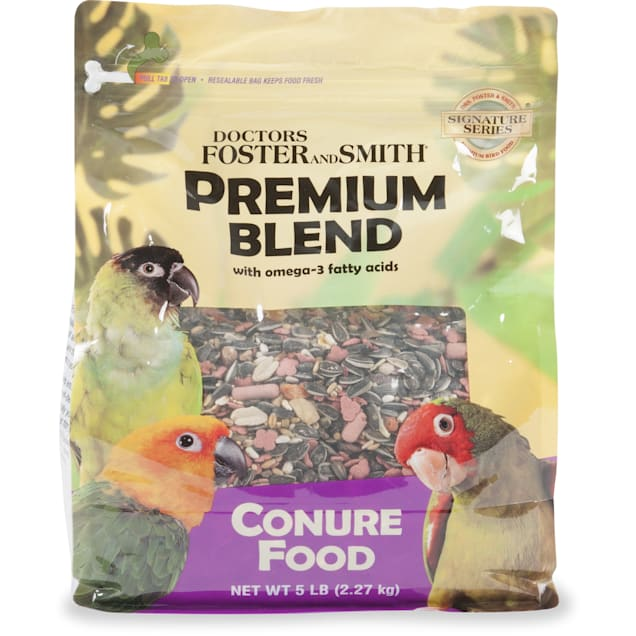 Drs. Foster and Smith Premium Blend Conure Food with Omega-3 Fatty Acids, 15 lbs. - Carousel image #1