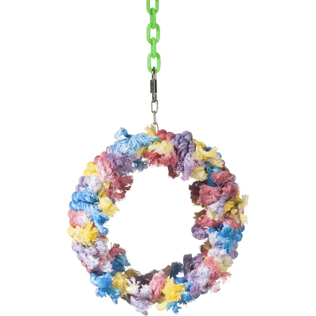 Caitec Paradise Cotton Wreath Bird Toy, Medium - Carousel image #1