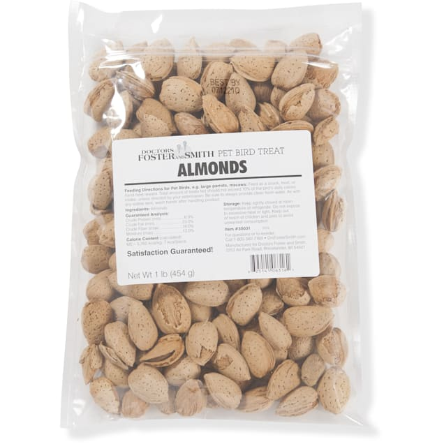 Drs. Foster and Smith Almonds for Birds, 1 LB - Carousel image #1