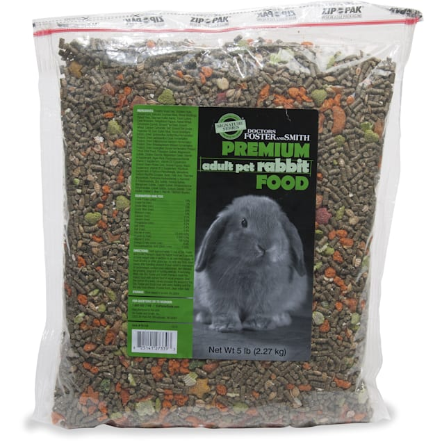 Drs. Foster and Smith Signature Series Premium Adult Pet Rabbit Food, 5 lbs. - Carousel image #1