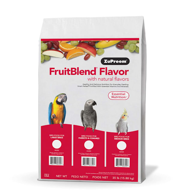 ZuPreem FruitBlend Flavors Bird Food for Large to XLarge Birds, 35 LBS - Carousel image #1