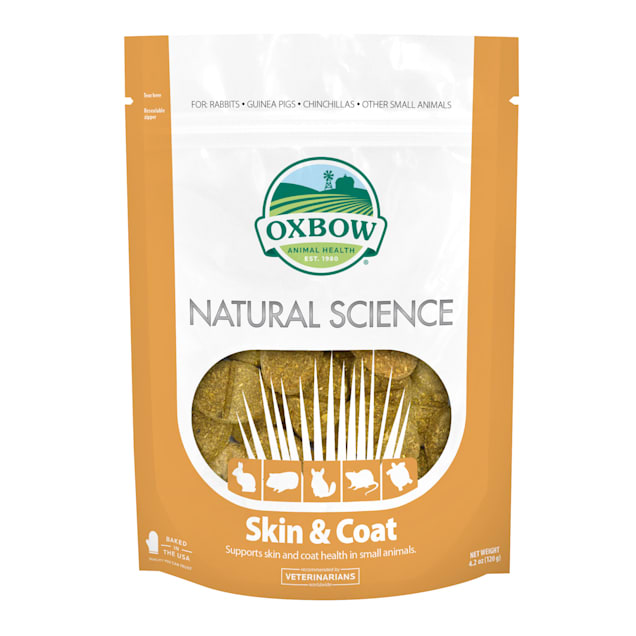 Oxbow Natural Science Skin & Coat Hay Tabs, 4.2 oz., Count of 60 - Carousel image #1