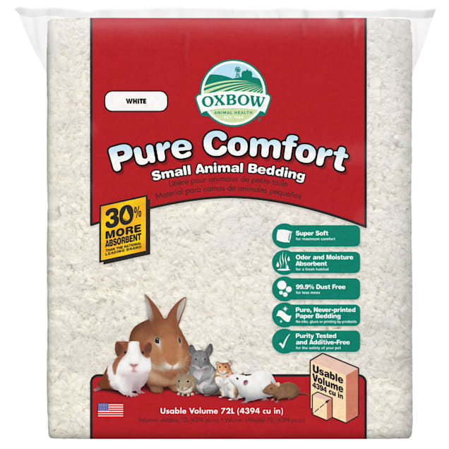 Oxbow Pure Comfort Small Animal Bedding in White - Carousel image #1