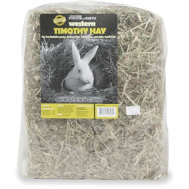 Drs. Foster and Smith Signature Series Western Timothy Hay for Small Animals, 56 oz - Carousel image #1
