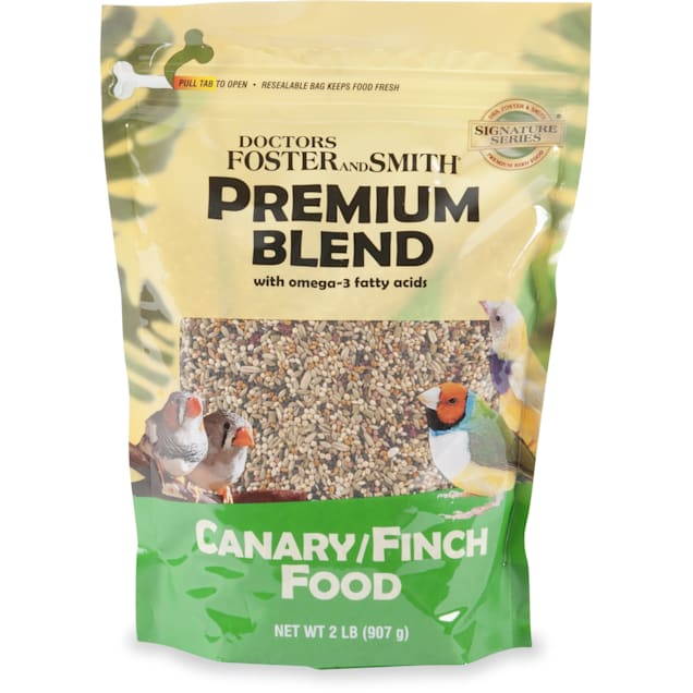 Drs. Foster and Smith Premium Blend Canary/Finch Food with Omega-3 Fatty Acids, 12 lbs. - Carousel image #1