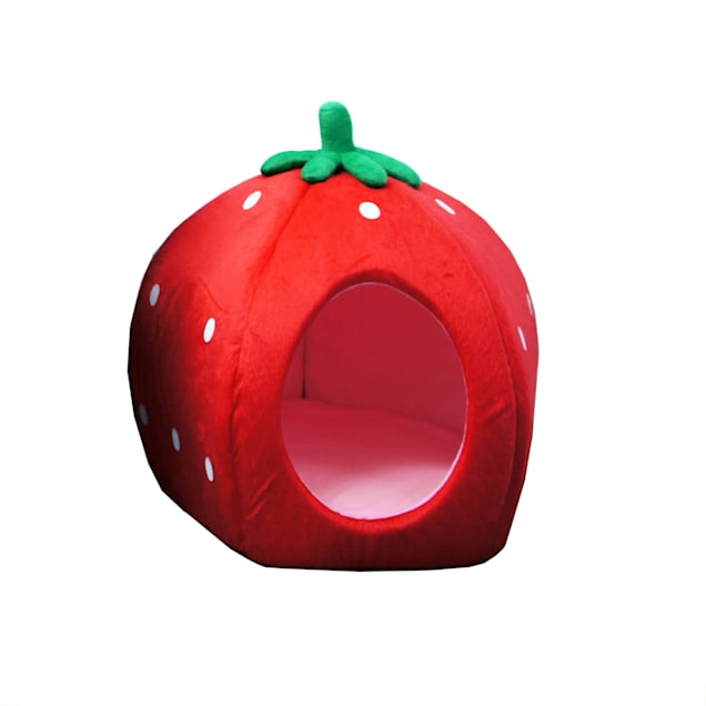 """YML Strawberry Red Pet Bed, 18"""" D - Carousel image #1"""
