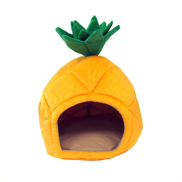 """YML Pineapple Yellow Pet Bed, 18"""" D - Carousel image #1"""