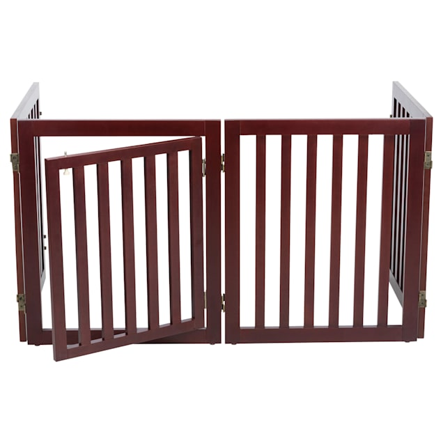 """TRIXIE Dog Barrier Four Panel Brown Gate, 80""""-20"""" L x 2"""" W x 24"""" H - Carousel image #1"""