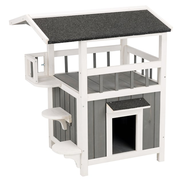 """Trixie Natura Pet's Home with Shade Grey Cat Furniture, 29.75"""" H - Carousel image #1"""
