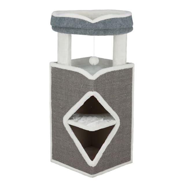 "TRIXIE Arma Cat Tower Grey Furniture, 38.58"" H - Carousel image #1"
