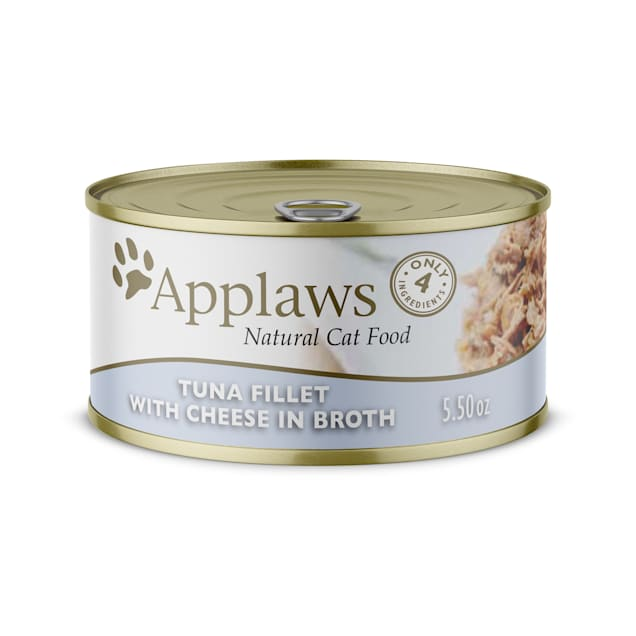 Applaws Natural Tuna Fillet with Cheese in Broth Wet Cat Food, 5.5 oz., Case of 24 - Carousel image #1