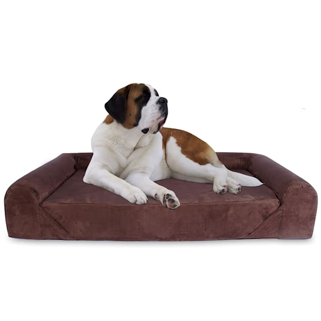 "Kopeks Orthopedic Memory Foam Brown Sofa Bed for Dogs, 40"" L X 56"" W X 8.5"" H - Carousel image #1"