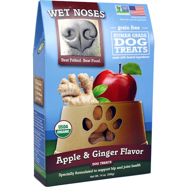 Wet Noses Grain Free Apple & Ginger Dog Treats, 14 oz. - Carousel image #1