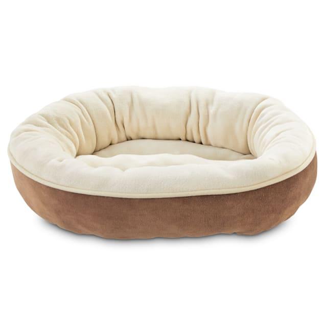 Animaze Brown Circle Bolster Dog Bed 20 D X 6 H Petco