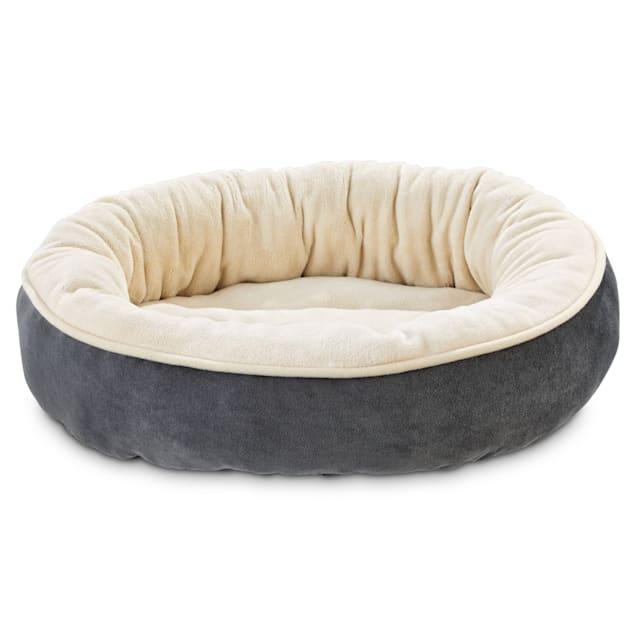 "Animaze Gray Circle Bolster Dog Bed, 20"" D X 6"" H - Carousel image #1"