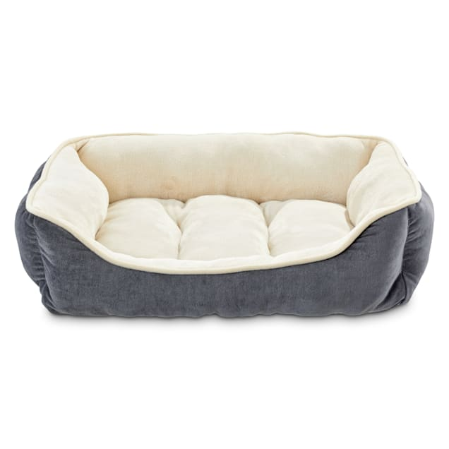 "EveryYay Essentials Snooze Fest Grey Nester Dog Bed, 24"" L X 18"" W - Carousel image #1"