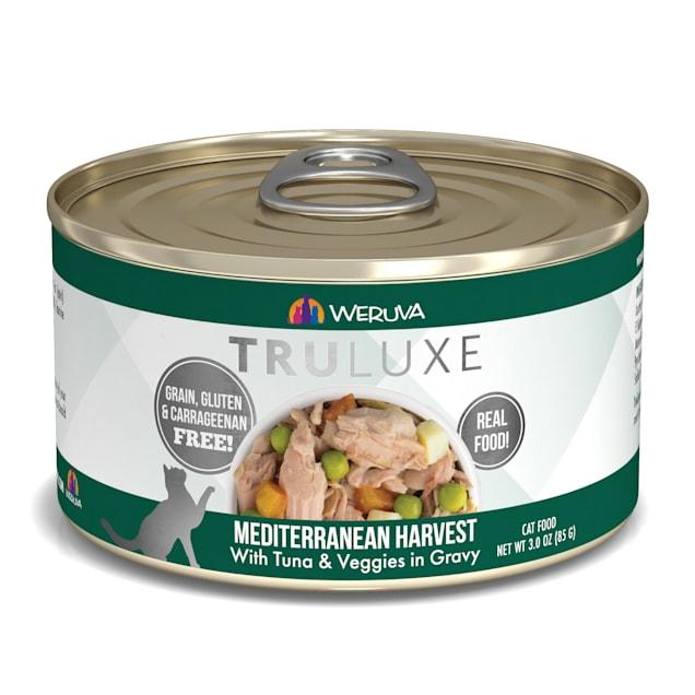 Weruva TruLuxe Mediterranean Harvest with Tuna & Veggies in Gravy Wet Cat Food, 3 oz., Case of 24 - Carousel image #1