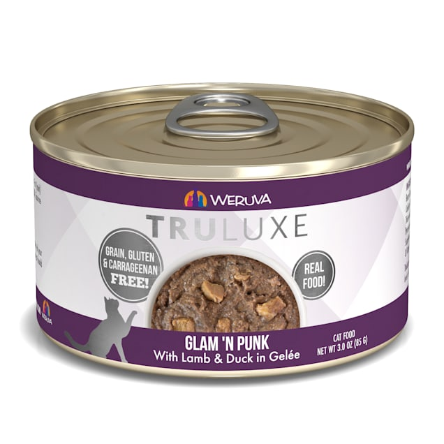 Weruva TruLuxe Glam 'N Punk with Lamb & Duck in Gelee Wet Cat Food, 3 oz., Case of 24 - Carousel image #1