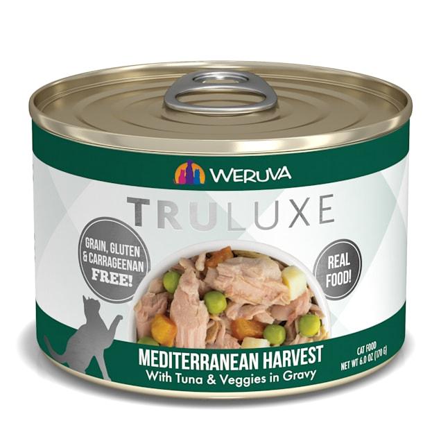 Weruva TruLuxe Mediterranean Harvest with Tuna & Veggies in Gravy Wet Cat Food, 6 oz., Case of 24 - Carousel image #1
