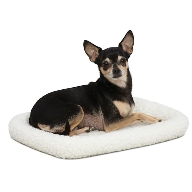 """Midwest Quiet Time Bolster White Dog Bed, 18"""" L X 12"""" W - Carousel image #1"""