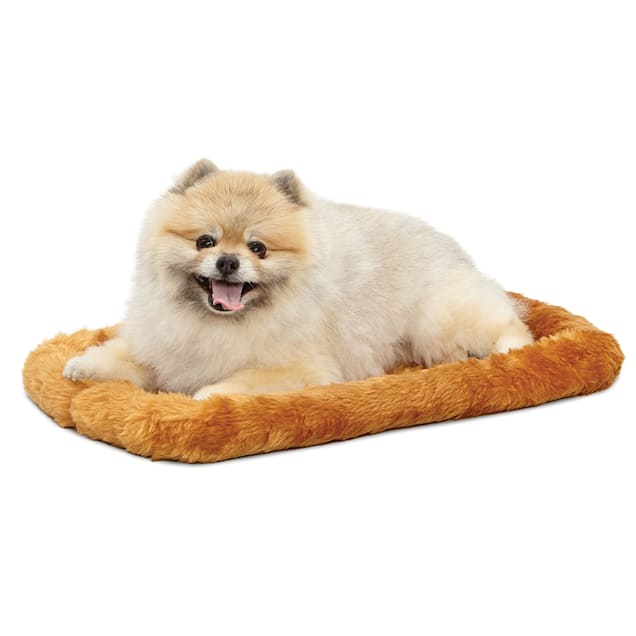 """Midwest Quiet Time Bolster Cinnamon Dog Bed, 22"""" L X 13"""" W - Carousel image #1"""