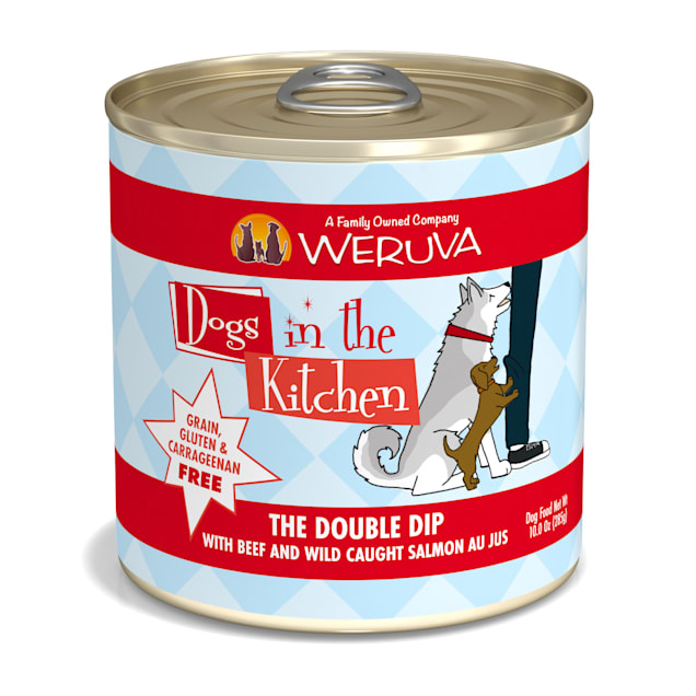 Dogs in the Kitchen The Double Dip with Beef & Wild Caught Salmon Au Jus Wet Dog Food, 10 oz., Case of 12 - Carousel image #1