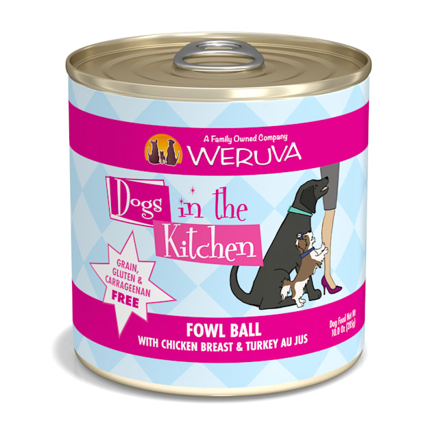 Dogs in the Kitchen Fowl Ball with Chicken Breast & Turkey Au Jus Wet Dog Food, 10 oz., Case of 12 - Carousel image #1