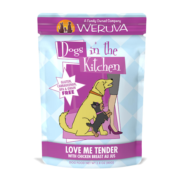 Dogs in the Kitchen Love Me Tender with Chicken Breast Au Jus Wet Dog Food Pouches, 2.8 oz., Case of 12 - Carousel image #1