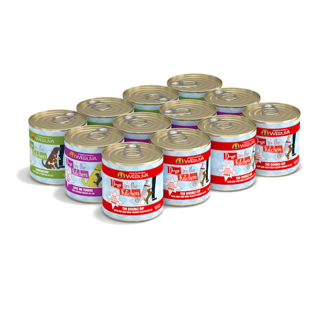 Dogs in the Kitchen Doggie Dinner Dance Variety Pack Wet Dog Food, 10 oz., Count of 12 - Carousel image #1