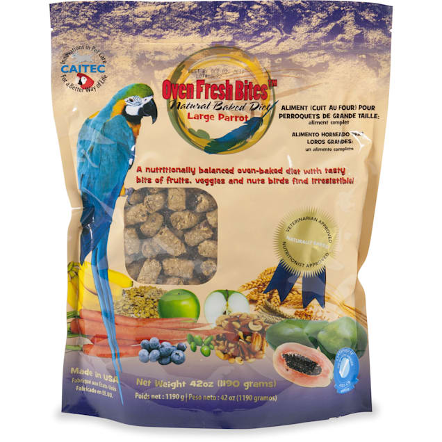Caitec Oven Fresh Bites Natural Baked Diet for Large Parrots Bird Food, 42 oz - Carousel image #1