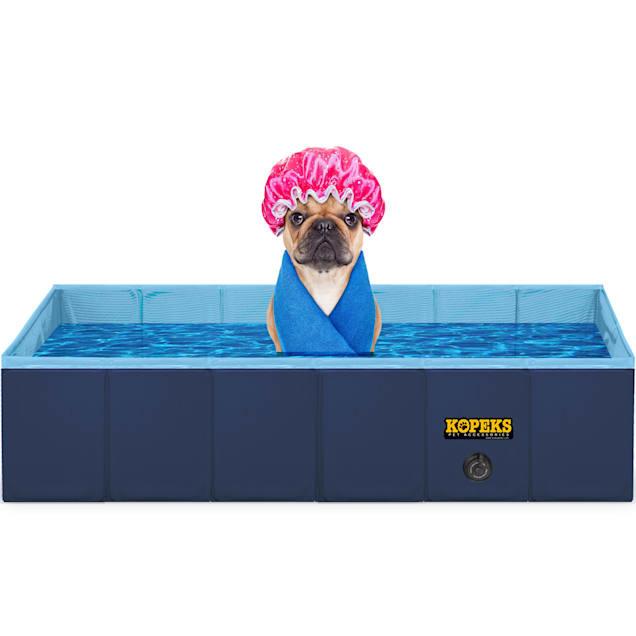 Kopeks Rectangular Outdoor Pet Blue Swimming Pool, Large - Carousel image #1