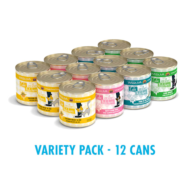 Cats in the Kitchen Originals Kitchen Cuties Variety Pack Wet Cat Food, 10 oz., Count of 12 - Carousel image #1