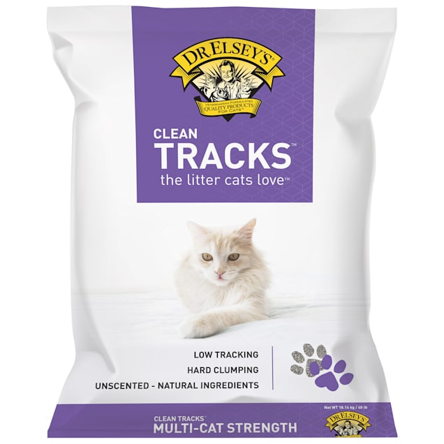 Dr. Elsey's Clean Tracks Clumping Clay Cat Litter, 40 lbs. - Carousel image #1