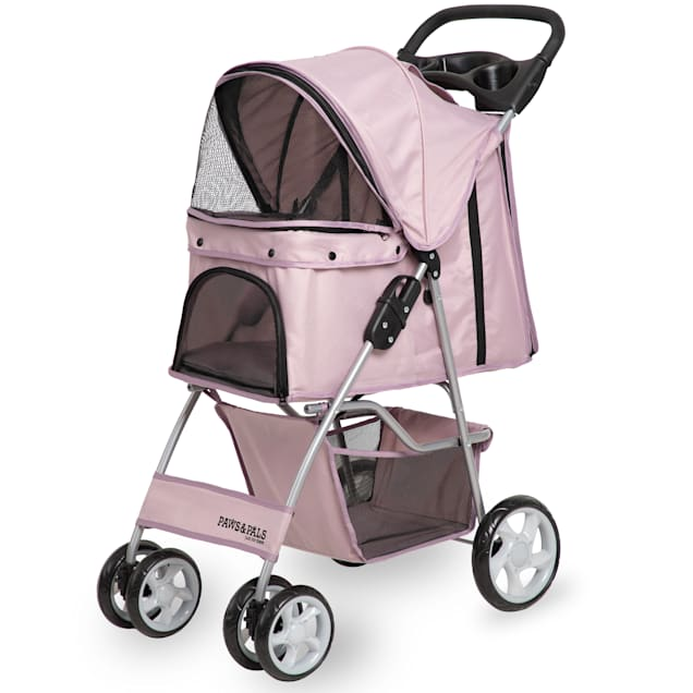 Paws & Pals EZ Walk 4 Wheel Pink Pet Stroller - Carousel image #1