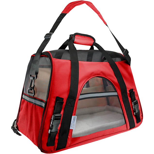 Paws & Pals Red Pet Carrier, Large - Carousel image #1