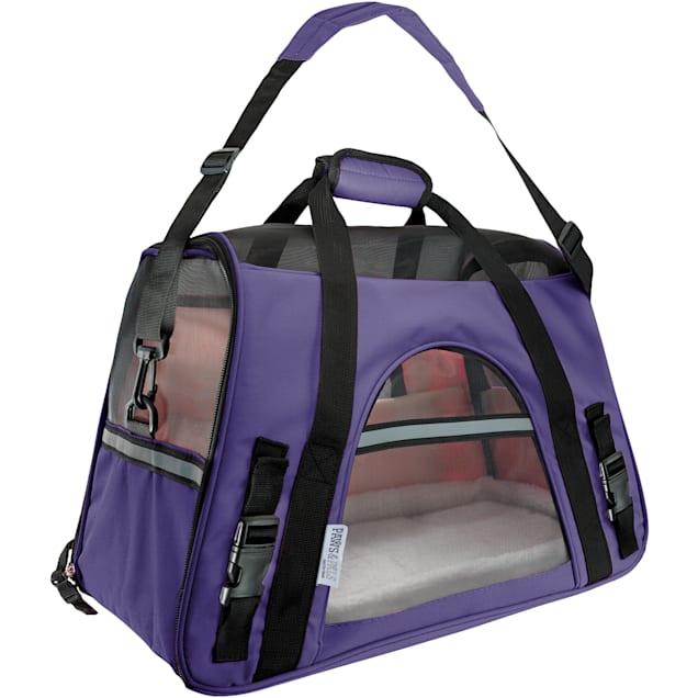 Paws & Pals Purple Pet Carrier, Large - Carousel image #1