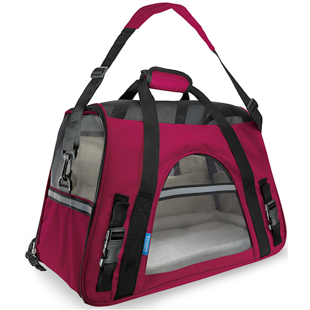 Paws & Pals Hot Pink Pet Carrier, Large - Carousel image #1