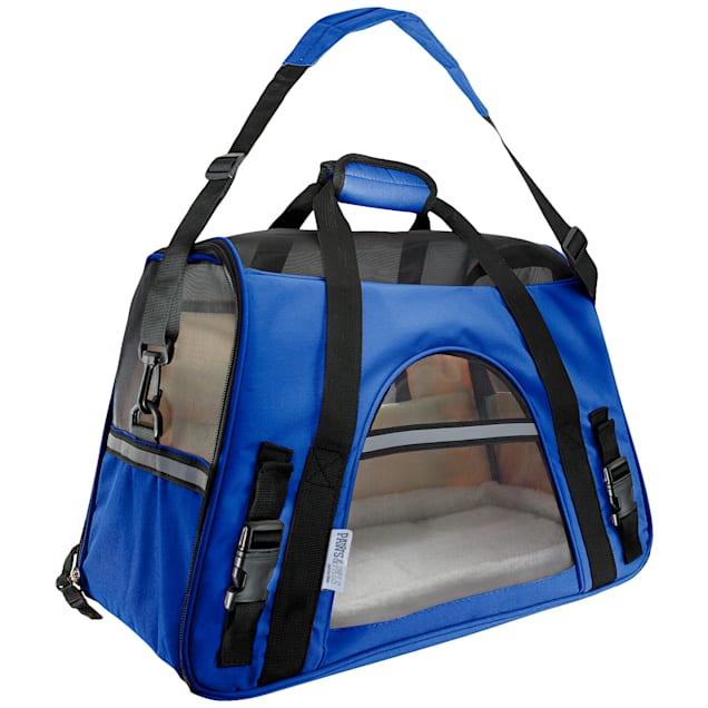 Paws & Pals Dark Blue Pet Carrier, Large - Carousel image #1