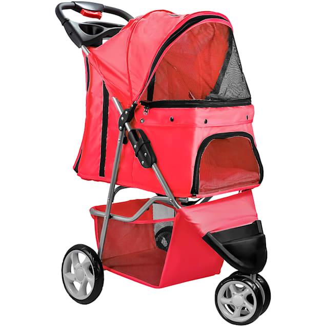 Paws & Pals EZ Folding Red Pet Stroller - Carousel image #1