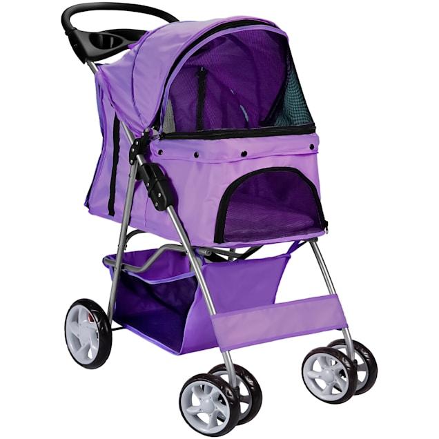 Paws & Pals EZ Walk 4 Wheel Purple Pet Stroller - Carousel image #1