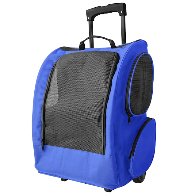 Paws & Pals Blue Rolling Backpack - Carousel image #1