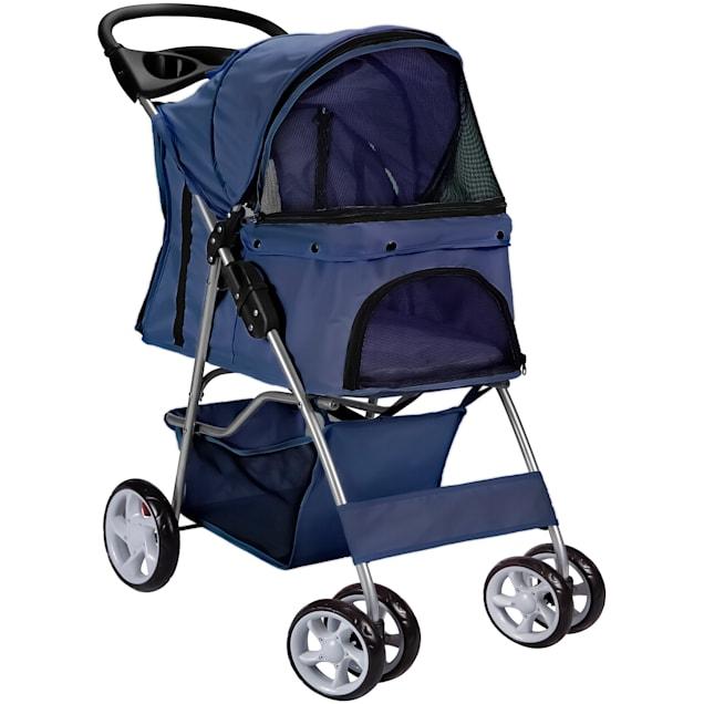 Paws & Pals EZ Walk 4 Wheel Blue Pet Stroller - Carousel image #1