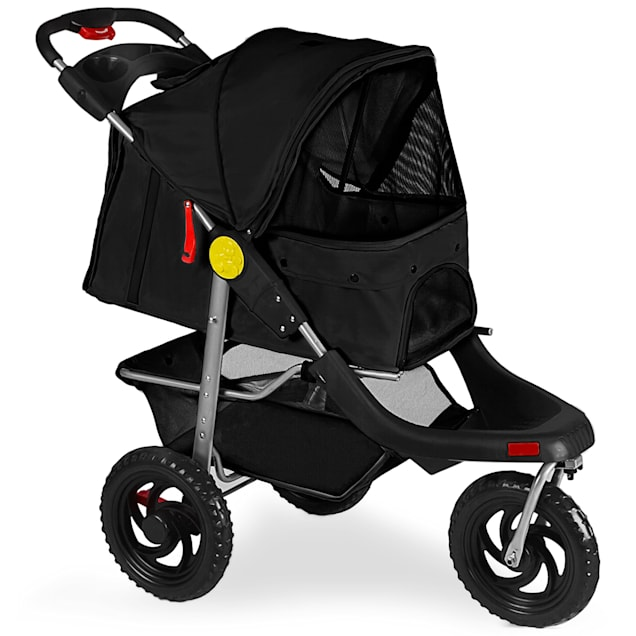 Paws & Pals Deluxe Folding Black pet Stroller - Carousel image #1