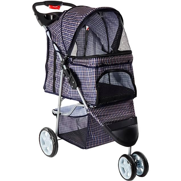 Paws & Pals EZ Folding Navy Pet Stroller - Carousel image #1