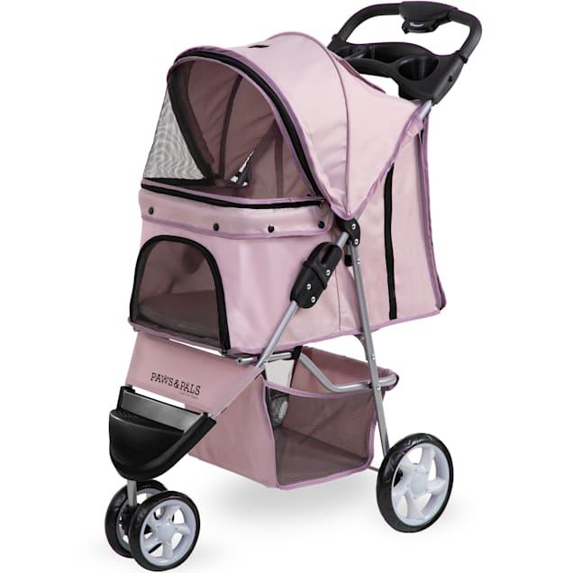 Paws & Pals EZ Folding Pink Pet Stroller - Carousel image #1