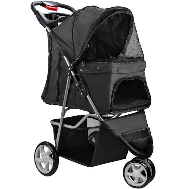 Paws & Pals EZ Folding Black Pet Stroller - Carousel image #1